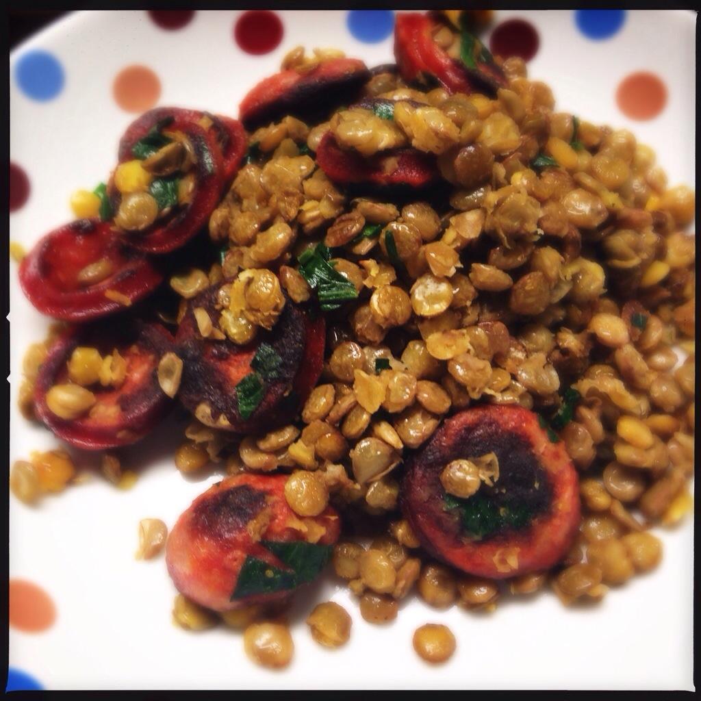 lentilha com chorizo – simples, sem firula e delicioso