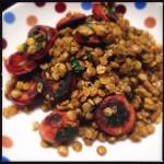lentilha com chorizo