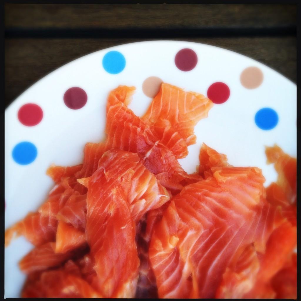 salmão curado para comer o dia todo