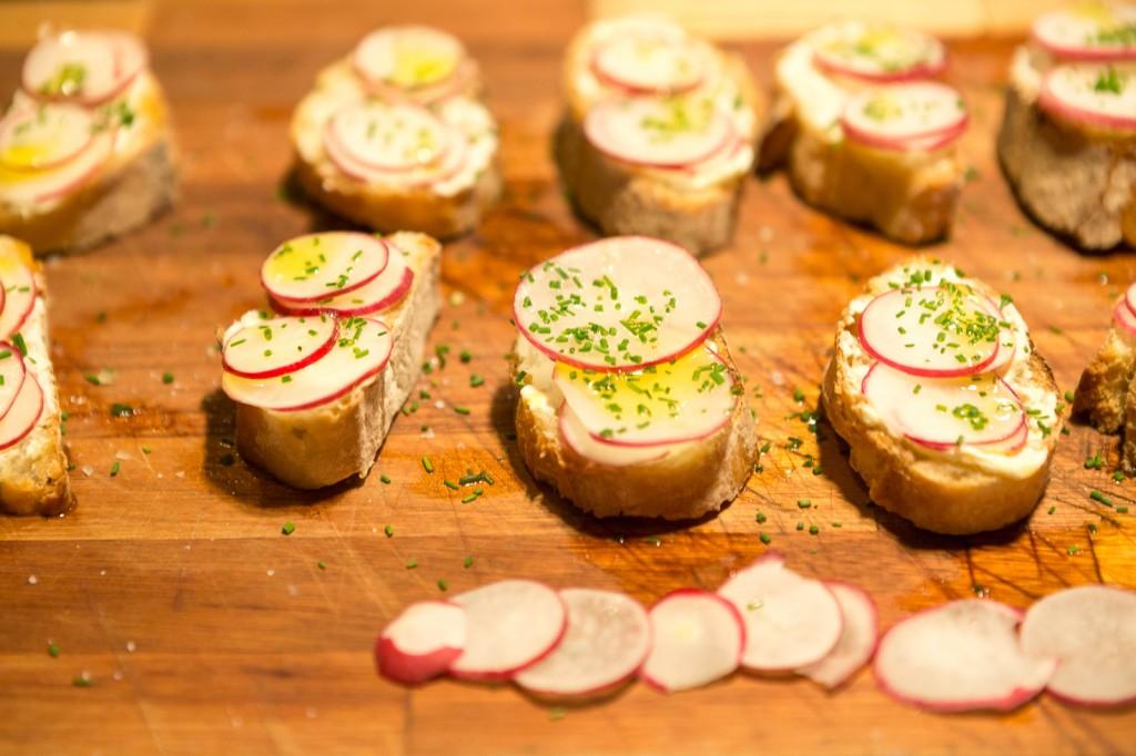 crostini de rabanete – a simplicidade sensacional
