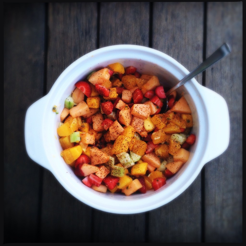 uma salada de frutas inusitada