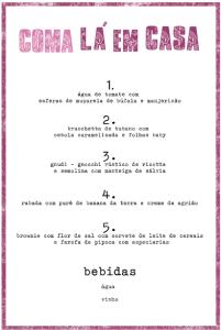menu lá em casa 8