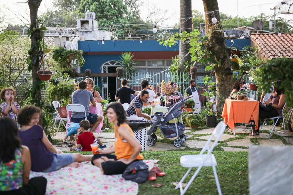 foto Ricardo Theodoro de uma das edições do Coma no Jardin em 2015