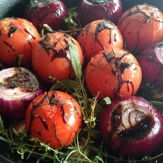 tomate e cebola assados com balsâmico 1
