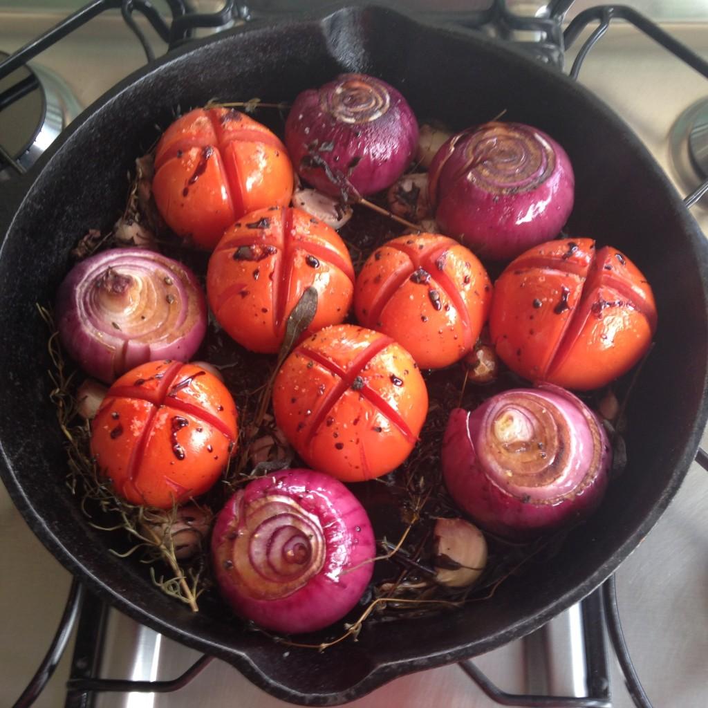 tomate e cebola assados com balsâmico 8