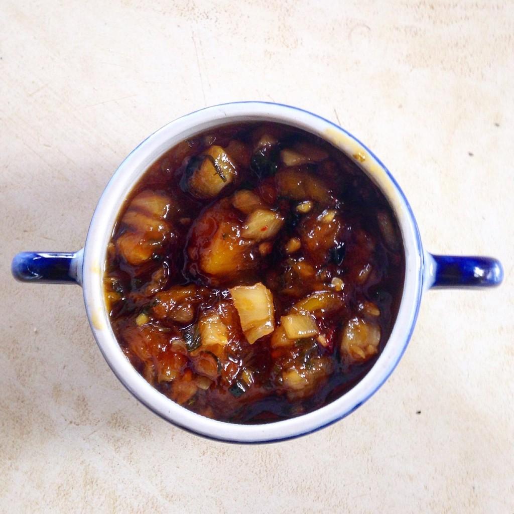 chutney de abacaxi e manga 1