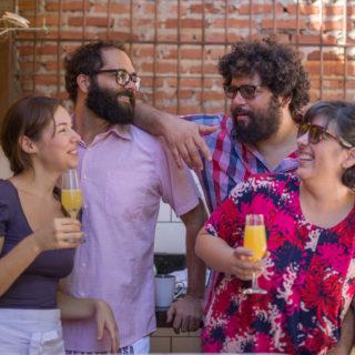Fabiana e Gustavo do Petit Jardin e Esdras e Mariana do Coma Lá em Casa :) - foto Ricardo Theodoro