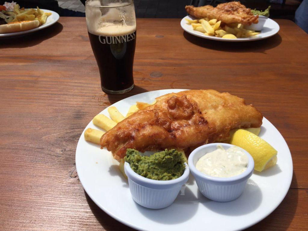 impossível não comer fish and chips