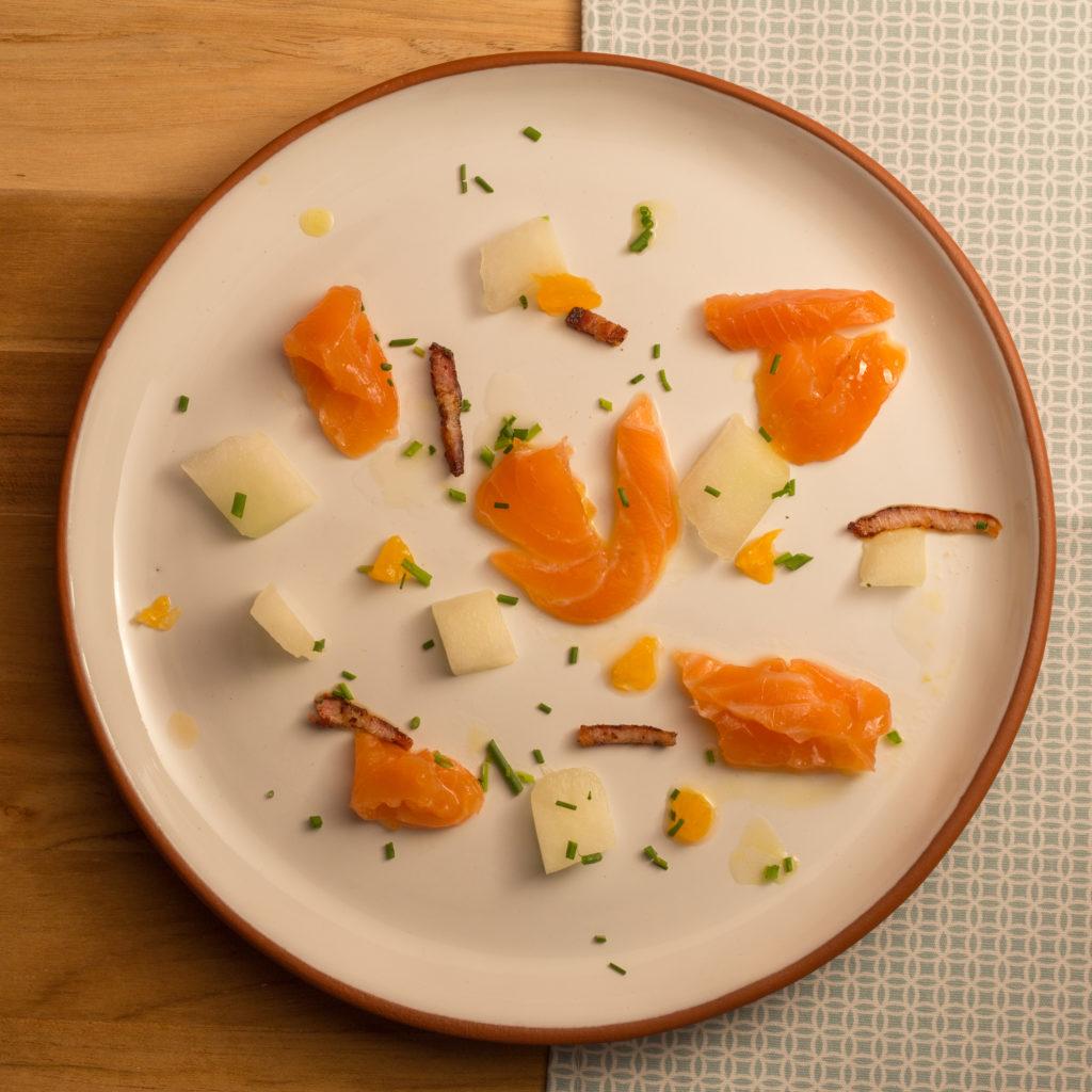 salmão curado + melão foto Ricardo Theodoro