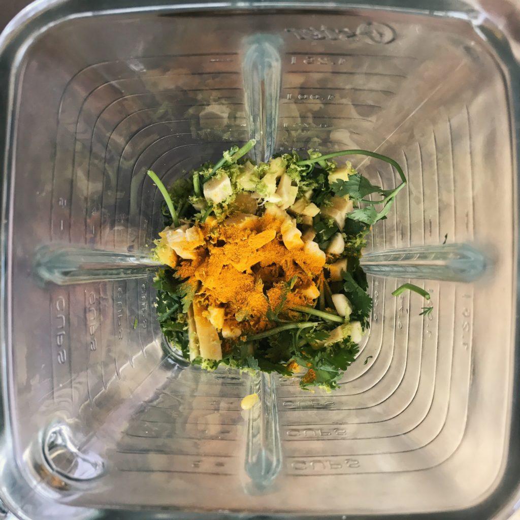 salada milho pimentão cúrcuma