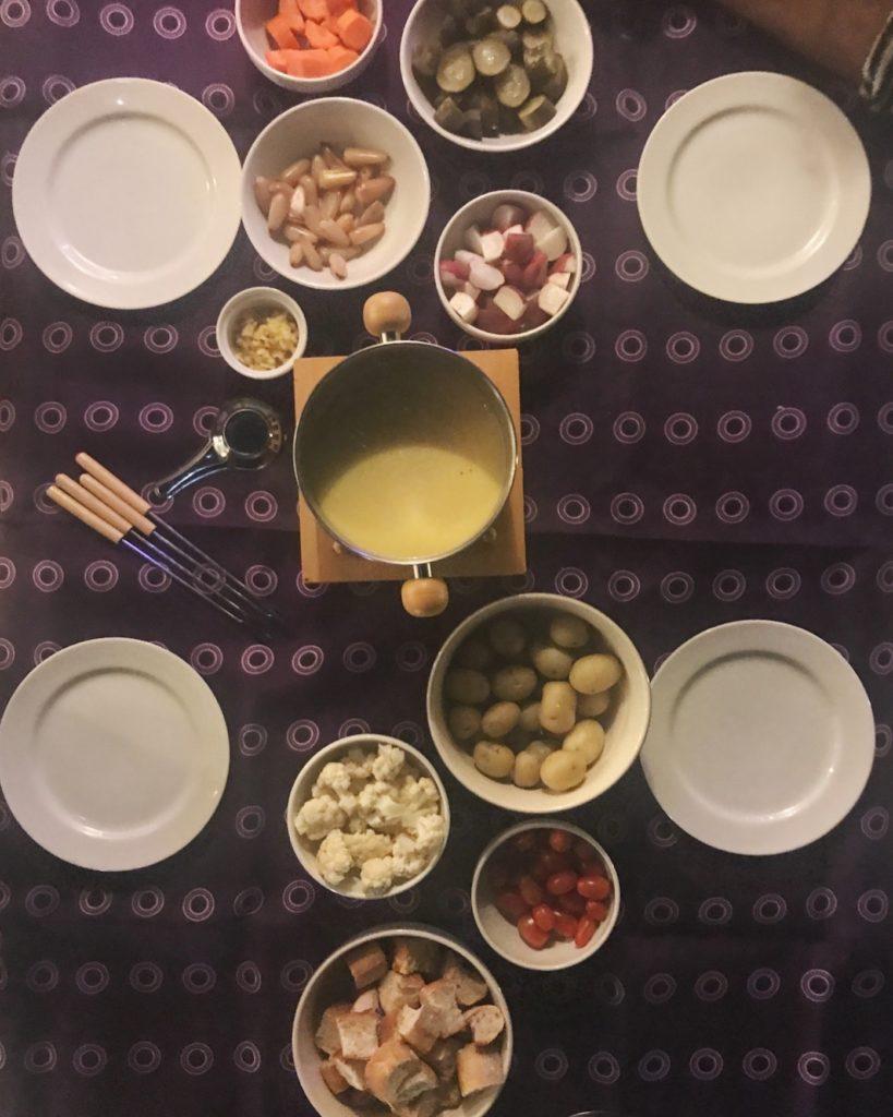 pitadas de uma noite de fondue