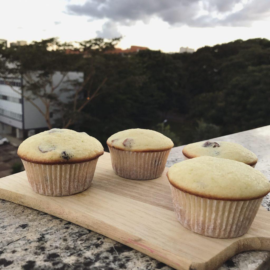 muffins de laranja e cranberry para curtir a tardinha