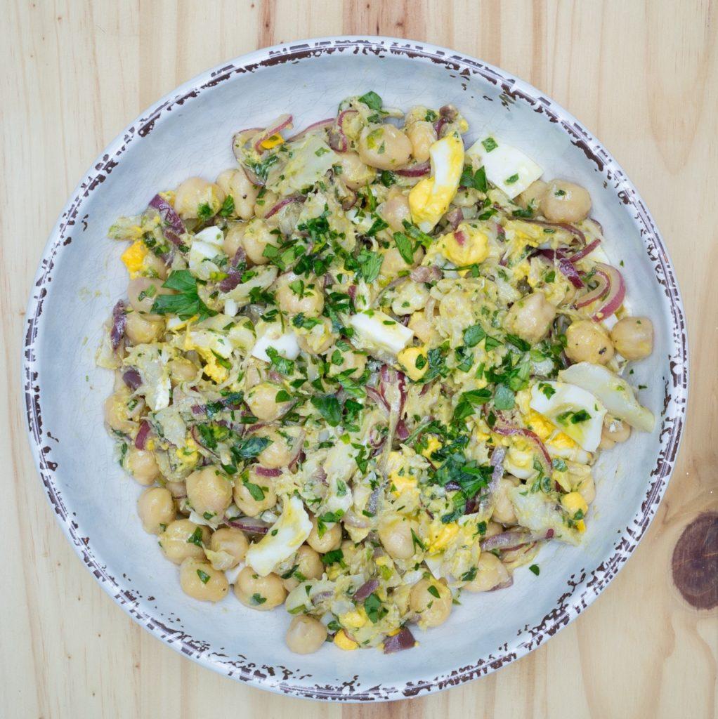 salada de bacalhau de natal