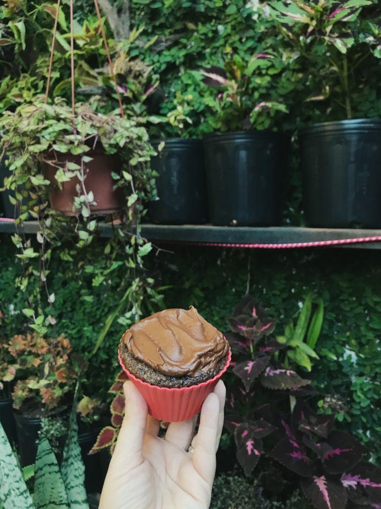 bolo de chocolate com cobertura de café